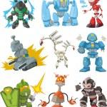Cartoon robots — Stock Vector #9382705