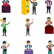 Royalty-Free Stock Vector Image: Set of Cartoon magician