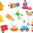 Stock Vector: Vector toy icons. Baby toys