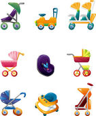 Set of baby carriage — Stock Vector