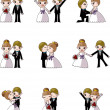 Set of wedding ,Bridegroom and Bride — Imagens vectoriais em stock