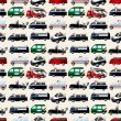 Different types car seamless pattern — Stock Vector #9478074