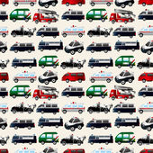 Different types car seamless pattern — Stock Vector
