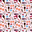 Vector de stock : Hairdressing KIT seamless pattern