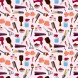 Stok Vektör: Hairdressing KIT seamless pattern