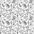 Seamless food pattern — Stock Vector #9747631
