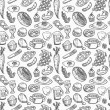 Stock Vector: Seamless food pattern