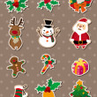 Xmas stickers — Stock Vector