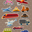 Vettoriale Stock : Transport stickers