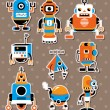 Cartoon robot sticers — Stock Vector