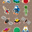 Space stickers — Stock Vector #9888266