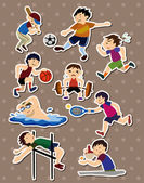 Sport stickers — Stock Vector