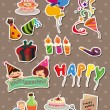 Birthday stickers — Stock Vector #9945101