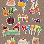 Birthday stickers — Stock Vector #9945101
