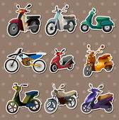 Cartoon motorcycle stickers — Stok Vektör