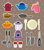 Kitchen stickers — Stock Vector