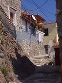 Lesbos narrow street — Stock Photo
