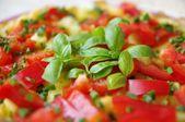 Vegetarian omelette in detail — Stock Photo