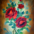 Stock Photo: Painting of flowers