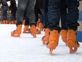 Ice skating boots — Stock fotografie