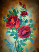 Painting of flowers — Stock Photo