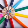Rainbow pencils — Stock Photo