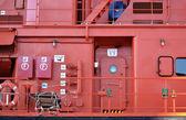 Pont tribord d'un navire de sauvetage — Photo