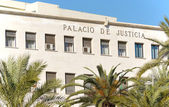 Justice Hall in small spanish town — Stock Photo