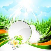 Vektör arka plan tasarım çiçek ile bir bahar ve doğa Tema — Stok Vektör