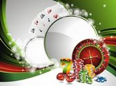 Vector gambling illustration with casino elements — Vettoriale Stock