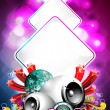 Royalty-Free Stock Vector Image: Abstract vector shiny background with speaker and design elements.
