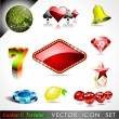 Stock Vector: Vector icon collection on casino and fortune theme.