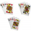 Classic playing cards - quads — Stock Photo #9093270