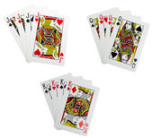 Classic playing cards - quads — Stock Photo