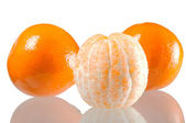 Set of three Mandarin orange — Stock Photo