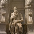 Michelangelo's Moses - San Pietro in Vincoli, Rome, Italy — Stock Photo