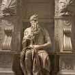 Michelangelo's Moses - San Pietro in Vincoli, Rome, Italy — Stock Photo #9140401