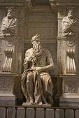 Michelangelo's Moses - San Pietro in Vincoli, Rome, Italy — Stock Photo