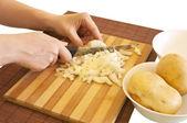Preparing meal ingredients — Stock Photo