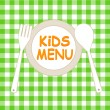 Kids Menu Card Design template — Stock Vector