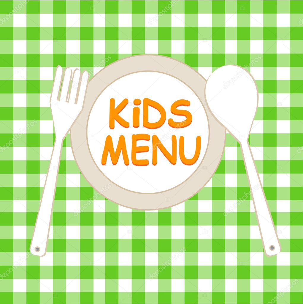 Kids Menu Card Design template