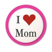 J'aime maman. Rose — Vecteur