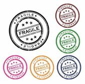 Grunge office stamp with the word fragile — Stock Vector