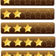 Rating System Review Stars — Stock Vector
