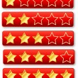 Rating System Review Stars - Stock Vector