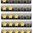 Stock Vector: Rating System Review Stars
