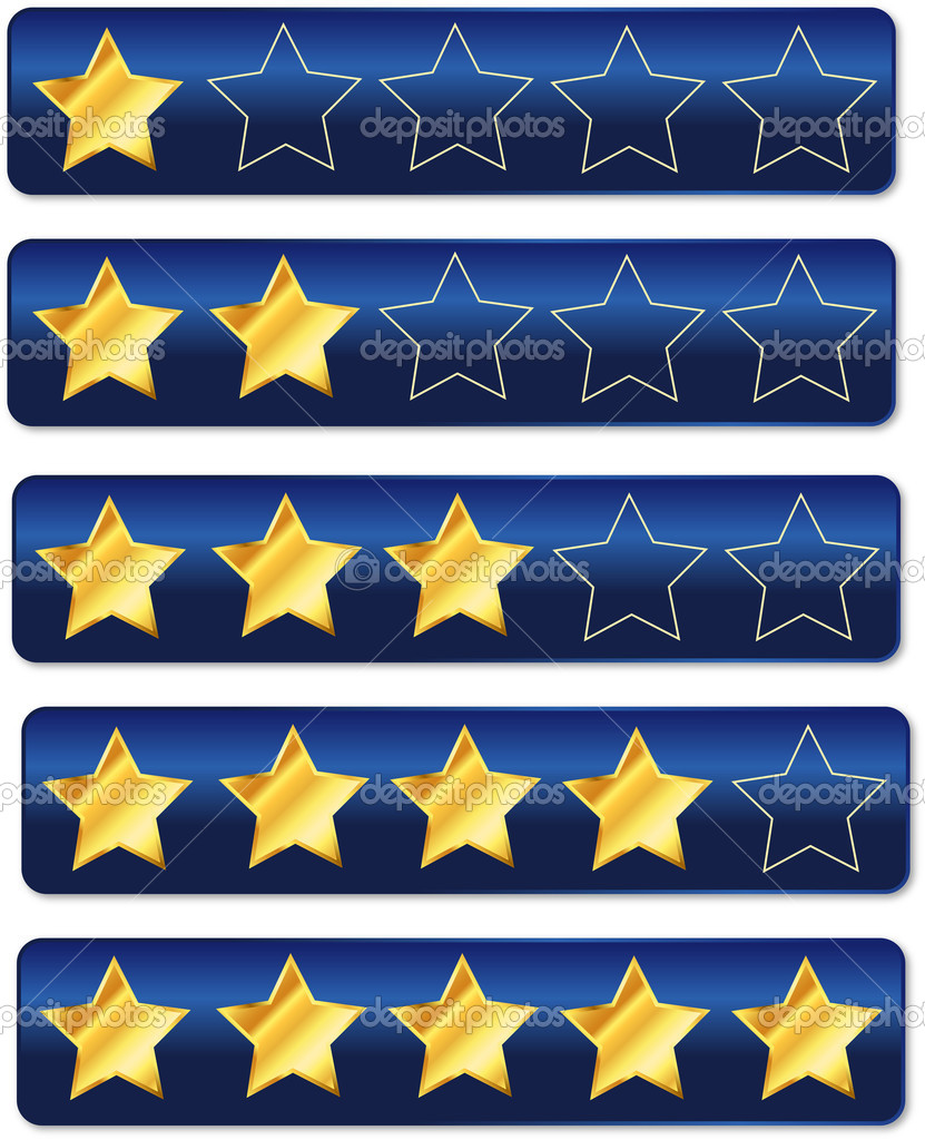 Rating System Review Stars  Stock Vector #8055721