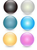 Set of translucent crystal ball, vector layered — Stock Vector