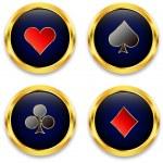 Poker chips — Stock Vector #8272131