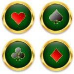 Poker chips — Stock Vector #8272170